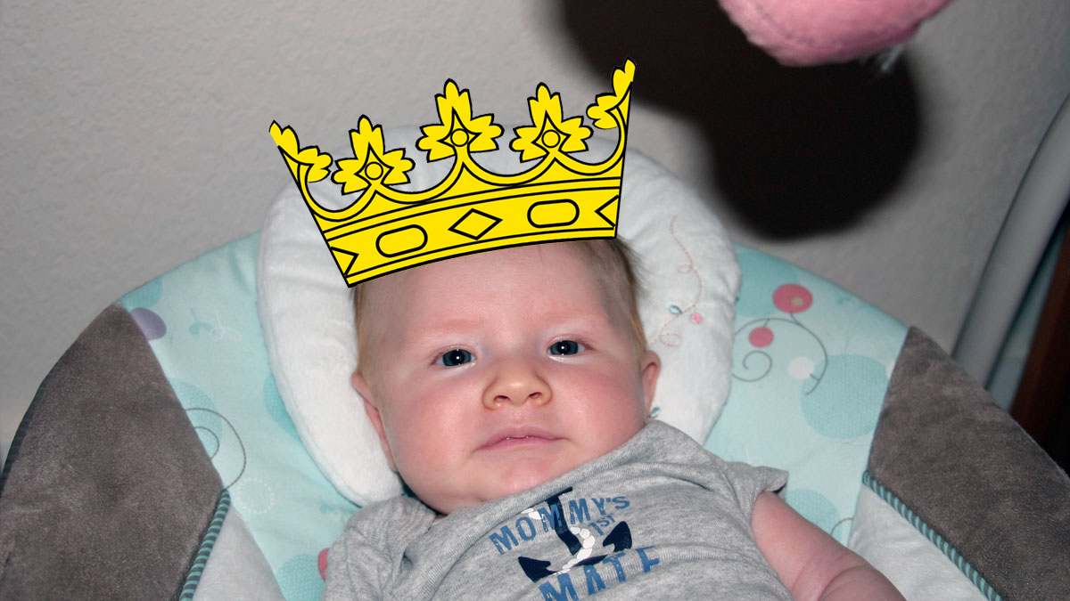 That Poore Baby is the King