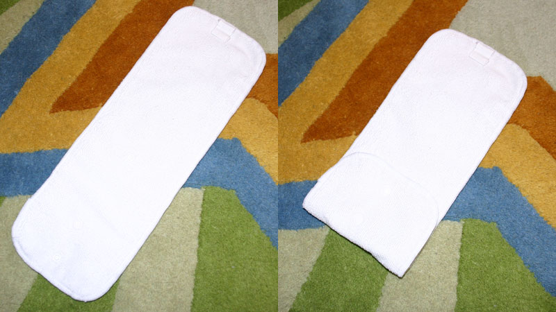 Set up the bumGenius cloth diaper insert - from a bumGenius review