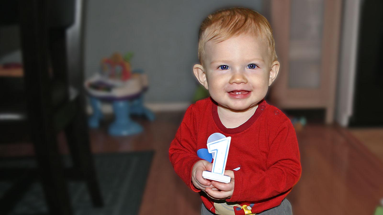 Happy First Birthday to My Little Big Man