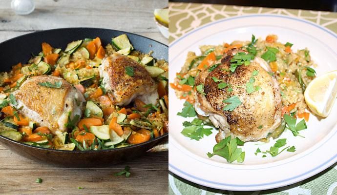 Crispy Skillet Chicken meal kit from Hello Fresh