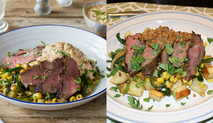 Seared Steak and Creamy Chipotle Pan Sauce meal kit from Hello Fresh