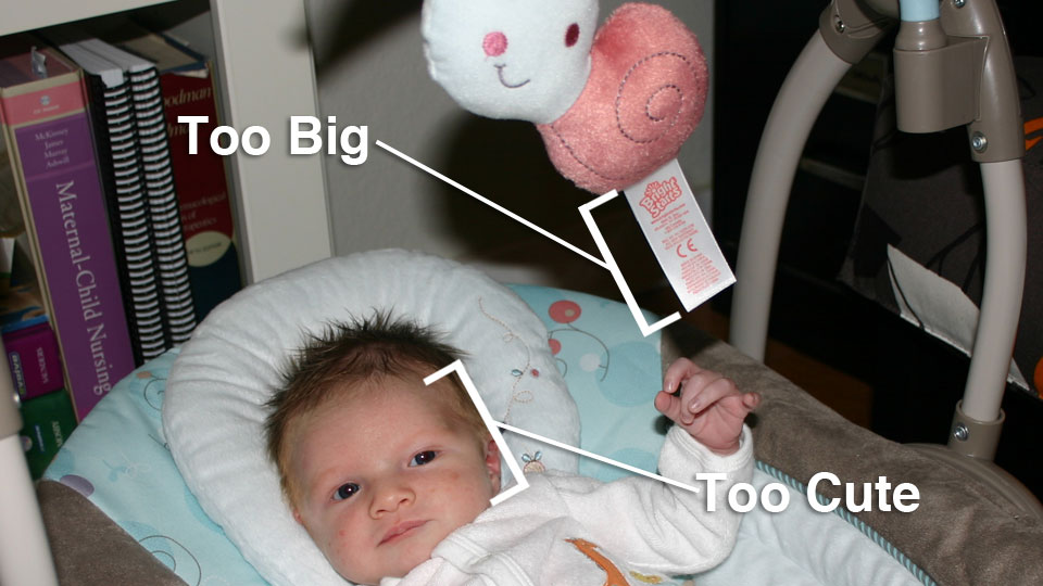Labels on Baby Stuff are Too Big
