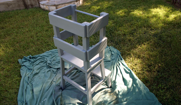 IKEA Hack Learning Tower after painting