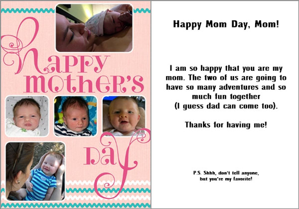 Mothers Day card from That Poore Baby