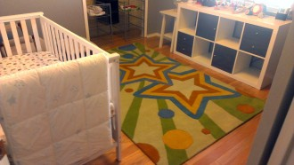 That Rug Really Tied the Room Together - That Poore Baby