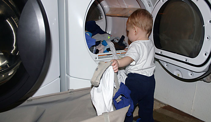 That Poore Baby does laundry all by himself #AVEENO #UnscriptedBeauty