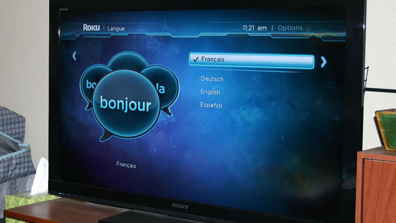 Roku set to French